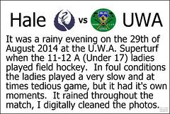 UWA u17 Girls Vs Hale_ (1) (Chris J. Bartle) Tags: girls hockey field club university under australia august western wa 17 uni 29 hale 1112 2014 uwa superturf