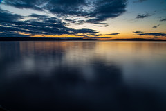 IMG_8487 (Johan Brunzell) Tags: sunset sun lake reflection water long exposure sweden arvika glafsfjorden