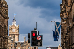 RED light to Scottish independence! (Frans.Sellies) Tags: scotland edinburgh flag independence referendum saltire edimbourg scottishflag édimbourg 20140706img5318