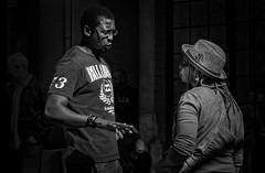 Conversation at Arts on Main (Lea Duckitt) Tags: africa sculpture woman man guy art film girl fashion southafrica couple chat conversation talking chatting johannesburg gauteng braamfontein monomonday artsonmain maboneng