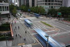 Street over Cheonggyecheon in Eujiro, Seoul (mbphillips) Tags: city asia cityscape korea seoul fareast     cheonggyecheon    eujiro     mbphillips