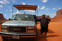 Navajo (elena.maggioni8) Tags: original red arizona sky people monument car rock america utah friend jeep native fat icon valley guide navajo monumentvalley
