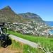Cycling around the Cape Town peninsula, Llandudno
