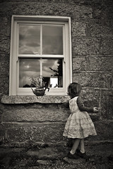 Window girl (rosieoc82) Tags: stone child cottage timeless