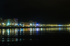 27082014-PACS5214 (Florent Joynault) Tags: bridge windows summer beach colors night buildings vacances holidays coastal nuit constructions saintjeandemont watersea lightlandscape