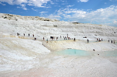 Pamukkale (Cotton Castle) (ladigue_99) Tags: turkey geology travertine pamukkale hotsprings anatolia kapadokya cottoncastle calciumdeposit geothermalarea ladigue99
