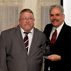 Wally Grummun with Executive Director Rob Kutzik
