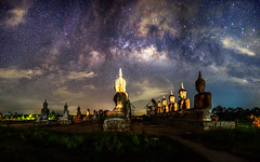Background blur and sofe focus Milky Way and statues in the night sky dark vision blurred.In Thailand. (Aor Chantip) Tags: space temple sky sdd night science thai thailand way white wat universe travel nature milkyway beautiful buddha background atmosphere astro astronomy cosmic dark long milky gold galaxy exposure architecture blurred sofefocus backgroundblur vision landsc landmarks outdoor statues star