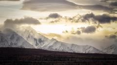 Sundown (frostnip907) Tags: alaska alyeska transalaskapipelinesystem transalaskapipeline sunset sundown mountains landscape golden hour range
