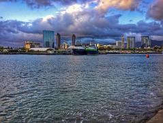 Sky Drama (jcc55883) Tags: sky clouds honolulu kakaako kewalos kewalobasin hawaii oahu ocean ships pacificocean ipad ipadair