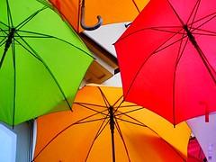 Umbrellas (David_Blair) Tags: nikoncoolpix nikoncoolpixl840 l840 coolpix nikon landscape closeups closeup macro colour umbrellas umbrella poland warsaw art street