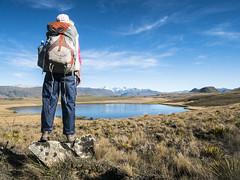 Backcountry Lake (newzild) Tags: backcountry lake newzealand teararoa hiker tramper trail route long distance capereinga bluff nzl pond backpack woman micro four thirds m43 panasonic gm5 1232 polariser sky water wilderness