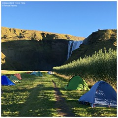 Skogarfoss campsite (indtravhelp) Tags: skogarfoss campsite iceland camping tents waterfall picmonkey