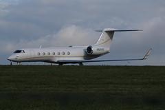 N524VE parked. (aitch tee) Tags: cardiffairport aircraft bizjet gulfstream g550 n524ve parkedongolf cwlegff maesawyrcaerdydd walesuk