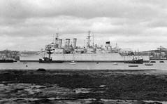 HMS Cumberland (C57) (goweravig) Tags: hmscumberland rivertamar hamoaze devonport plymouth devon uk shipping cruiser c57 ship royalnavy