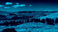 IMG_7820 Blue Patagonia (Rodolfo Frino) Tags: tree trees nature landscape mountain mountains hills bush sky cloud blue