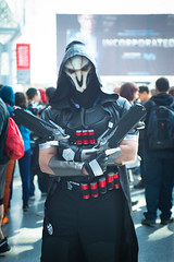 Reaper (Doug's Photography) Tags: nikon nikond610 d610 nikon3570mmf28 3570mmf28 flash artificiallight nikonsb700 sb700 speedlight newyork ny nyc nycc newyorkcity newyorkcitycomiccon javitscenter cosplay costume overwatch character videogamecharacter reaper