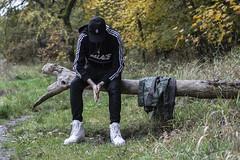 (kosciuczyka) Tags: man boy szczecin lake jacon nikkor 55 mm 55mm nikkor55mm nikond5200 d5200 nikon autumn fall tree trees pond