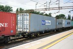 92562 Northampton 090816 (Dan86401) Tags: 92562 rls92562 92 kfa freightliner fl intermodal modal container flat wagon freight rls standardwagon touax northampton wcml 4l90 maersk ponedlloyd