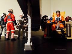 Waiting for the mission to begin (Macroworlder) Tags: star wars hasbro disney rebel pilots xwing hangar bay john brannon