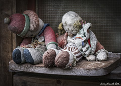 Once Loved (zolaczakl ( 2 million views, thanks everyone)) Tags: bristol toys stwerburghs abandoned uk knitted dolls england southwest boilingwellslane nikond7100 sigma1835mmf18dchsmlens photographybyjeremyfennell october 2016 abandonedtoys