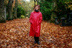 A tribute to Autumn leaves (kleppertomanie) Tags: klepper raincoat rainwear hood boots gummistiefel wellies