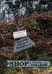 One Way (13 Monkeys) Tags: mull scotland sea iona abbey inri ronnierae sculpture fallenchrist signs direction