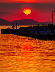 Dramatic Sunset (Sivota Harbour) ( Greek mainland) (Canon EOS 7D & EFS 55-250mm Telephoto) (1 of 1) (markdbaynham) Tags: sun sunset clouds colour sky sivota greece gr grecia greka hellas hellenic view landscape canon canonite canonites eos 7d apsc dslr efs 55250mm telephoto zoom
