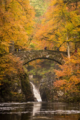 The Hermitage (Katherine Fotheringham) Tags: the hermitage dunkeld scotland autumn trees big waterfall river water rocks bridge stone