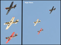 High fliers collage (Vee living life to the full) Tags: italy leger travel touring holiday nikond300 sky cloud blue plane formation red white grey wings flight flying diving banking aeroplane war craft vintage spitfire