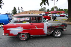 56 Chev Shorty (bballchico) Tags: 1956 chevrolet shorty hotrod ratbastardscarshow carshow 50s stationwagon 206 washingtonstate trifive