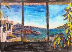 Three Images (IrinaIrina) Tags: ink landscape neocolor sticks sketchbook