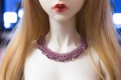 mauve rhapsody (The Darkest Star ★) Tags: dolljewelry dollnecklace bjdjewelry bjdnecklace beadwork soom clozel