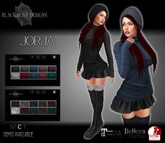 @ STUFF STYLE (Arianna Devarius | Black Rose Designs) Tags: jorja sweater turtleneck miniskirt combatboots winter stuffstyle blackrosedesigns event exclusive secondlife sl 3d fashion