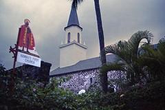 Hawaii's First Church (AntyDiluvian) Tags: hawaii 2001 30thanniversary bigisland kailuakona kailua church mokuaikaua steeple firstchurch