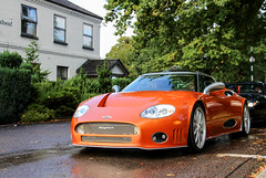 2009 Spyker C8 Laviolette. (demented_b) Tags: icons by the lake virginia water surrey 2016 dutch netherlands spyker c8 laviolette 188 burnt orange 2009 supercar hypercar