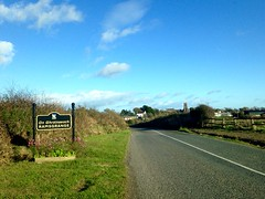 Home town (JulieK (thanks for 7 million views)) Tags: hss sign iphone5 2016onephotoeachday wexford ramsgrange ireland irish road landscape carwindscreen fence