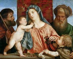 Madonna of the Cherries (lluisribesmateu1969) Tags: 16thcentury titian virgin onview kunsthistorischesmuseumwien vienna saint