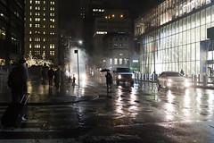 Rainy Night (wwward0) Tags: crosswalk fidi financialdistrict manhattan nyc rain rainynight steam street wet