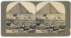 Ruins of the Temple, Sphinx, and Pyramid of Khafu, Egypt. (SMU Central University Libraries) Tags: stereoviews architecture egyptianarchitecture egyptianart art greatpyramid greatsphinx egypt excavations archaeology
