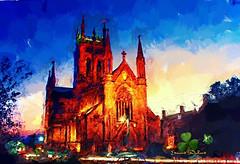 Saint Mary's Cathedral. (Edward Dullard Photography. Kilkenny, Ireland.) Tags: saintmaryscathedralkilkenny ireland eire cillchainnigh oldpicturesofkilkenny oldphotographsofkilkenny oldkilkennyphotos catholic christian photoart art kilkennypeople kilkennyreporter tourismkilkenny edwarddullard night nacht painterly kilkenny kilkennyartsweek kilkennyireland