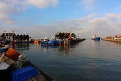 Harbour colours (NovemberAlex) Tags: light colour whitstable kent boats water seaside clouds