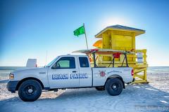 Beach Patrol (DonMiller_ToGo) Tags: hdr 5xp siestabeach sunsetmadness hdrphotography trucks buildings goldenhour sunsetsniper sunsets d810 outdoors florida
