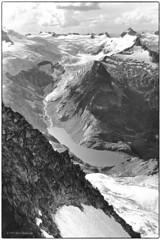 Moraine Lake to Backbone Ridge 1977 (Fogle Images) Tags: landscape alpineclimbing inspirationglacier morainelake forbiddentotormenttraverse northcascades wa