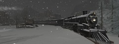 by night express back to you (flubs) Tags: winter night snow outdoor nature landscape sl secondlife flickr slphotography