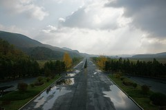 Reunification highway (Frhtau) Tags: dprk north korea kaesong reunification high way street view dmz path traffic nordkorea scene autumn korean asia asian east autobahn verkehr strasse city pyongyang capital connection