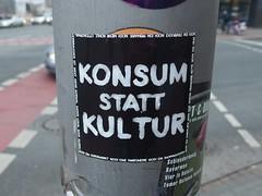 K S K (mkorsakov) Tags: mnster city innenstadt sticker aufkleber ampel trafficlight quadrat schwarz black typo konsumstattkultur