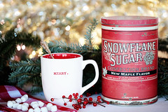 Christmas sweets (barbara carroll) Tags: christmas marshmallows cocoa merry onthetable sugar red snowflakesugar
