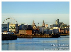 All rights reserved Collette Rawlinson (Collette Rawlinson) Tags: liverpool england uk water waterfront sea seaside river mersey merseyside boat building dock liver big wheel architecture blue sky winter december 2016