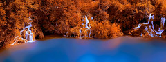 Trinity (PokemonaDeChroma) Tags: waterfalls cascade lake trees nature hdr 3exposures artistic photography orange blue milanovac croatia canon6d plitvice national park likasenj ef24105mmf3556isstm three